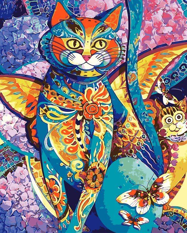 Schilderen op Nummer – Kat