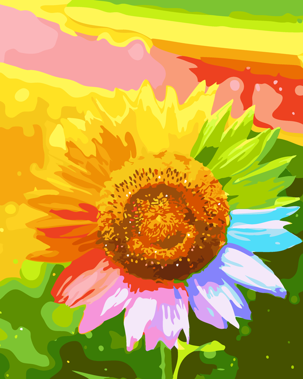 Schilderen op Nummer – Zonnebloem
